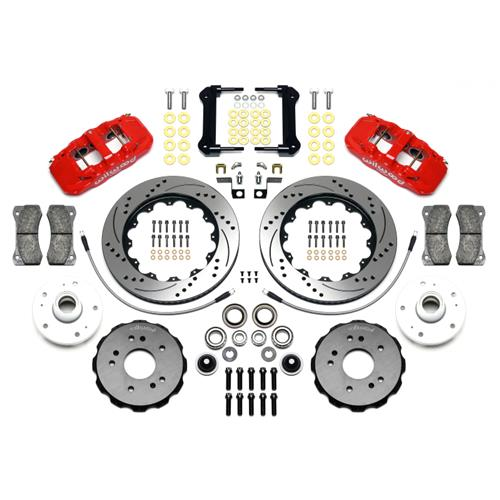 F-150 SVT Lightning Wilwood AERO6 Front Big Brake Kit  - Red (99-04)
