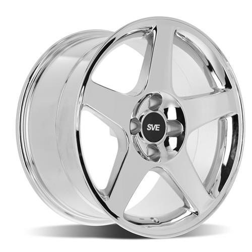 SVE Mustang 2003 Cobra Style Wheel & Tire Kit - 17X9/10  - Chrome (79-93) Sumitomo HTR Z5