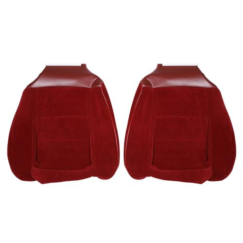 TMI Mustang Cloth Seat Upholstery - Sport Seats  - Canyon Red (1984) Hatchback 43-75724-59-59-59