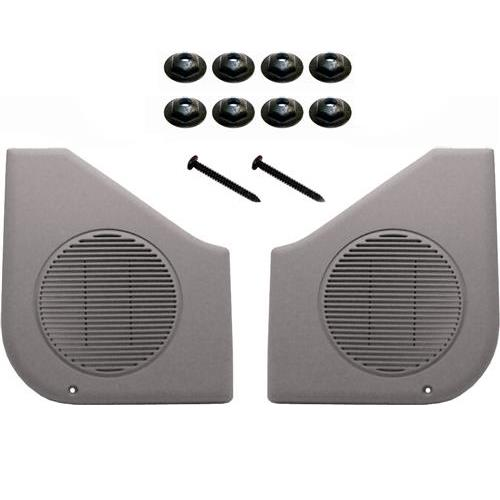 87-93 MUSTANG WITH TI GRAY INTERIOR DOOR SPEAKER GRILLE KIT
