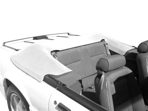 Mustang Convertible Top Boot, Feature Car Bright White (93-93) - Picture of Mustang Convertible Top Boot, Feature Car Bright White (93-93)