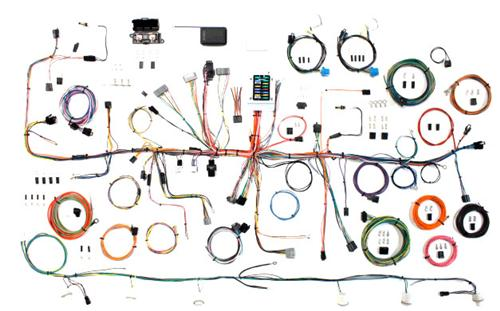 87-89 Mustang Classic Update Kit complete body wiring harness.  Not a stock replacement.  Great for custom builds.  Will also fit 90-93, but does not have air bag provisions.