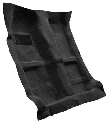 Picture of Mustang Floor Carpet for Coupe & Convertible Dark Charcoal (05-09)