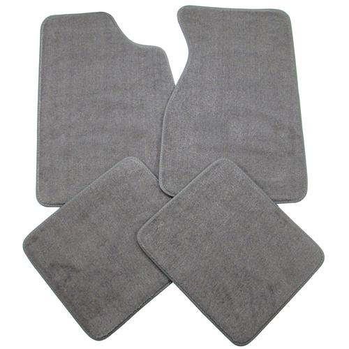 Mustang Floor Mats Smoke Gray (84-89) FM06PN-807-NO LOGO