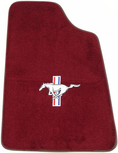 Mustang Floor Mats w/ Pony Logo Ruby Red  (93-93) 8886-825-110