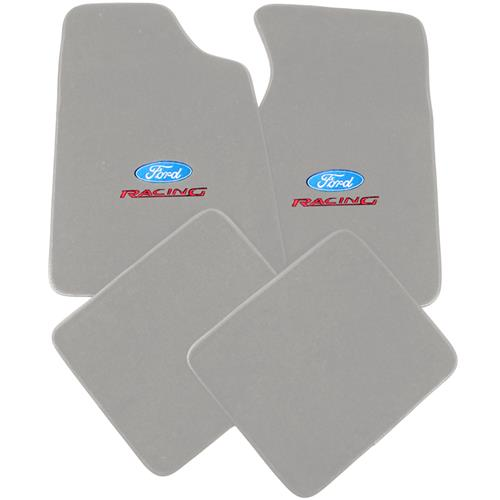 Mustang Floor Mats w/ Ford Racing Logo - Opal Gray  (93-93) 8886-9196-207