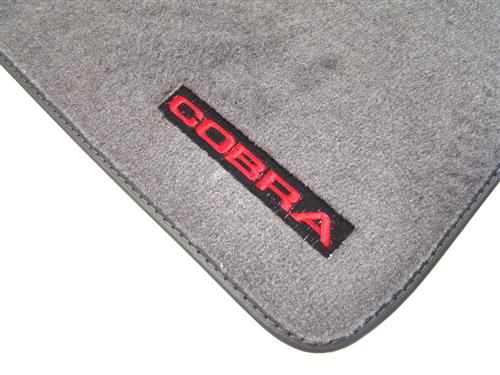 Mustang Floor Mats w/ 93 Cobra Text Logo - Opal Gray  (93-93) 8886-9196-221