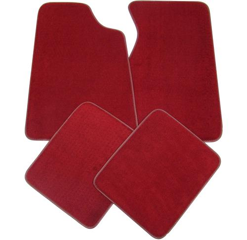 Mustang Floor Mats - Medium/Scarlet Red  (82-92) FM06PN-815-NO LOGO