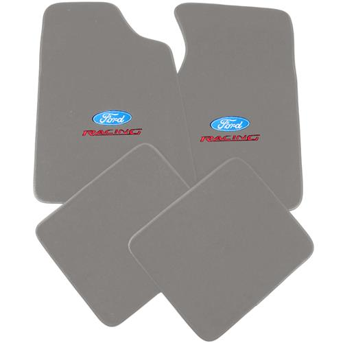 Mustang Floor Mats w/ Ford Racing Logo Titanium Gray  (90-92) 8886-9779-207