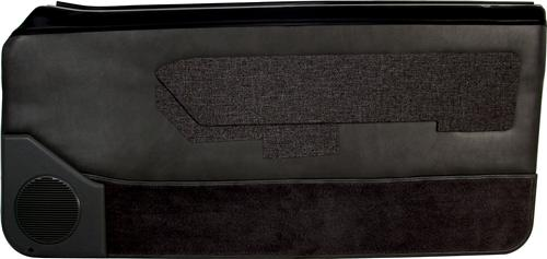 Mustang Lower Door Panel Carpet Black (87-89) 15104-801