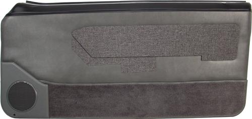Mustang Lower Door Panel Carpet Smoke Gray (87-89) 15104-807