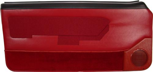 Mustang Lower Door Panel Carpet Scarlet Red (87-89) 15104-815