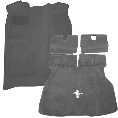 Mustang Floor Carpet & Hatch Carpet Kit Smoke Gray  (87-89) Hatchback