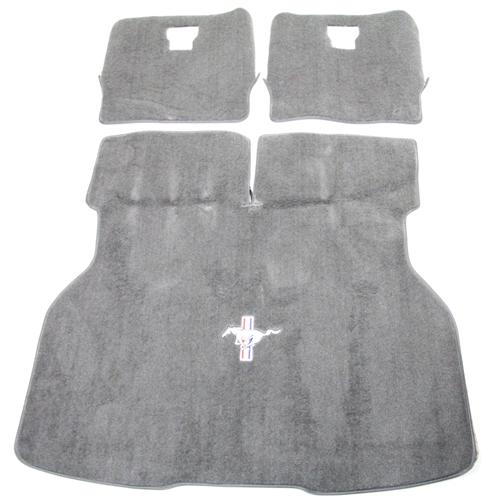 Mustang Hatch Area Carpet with Running Pony Logo Opal Gray (93-93)