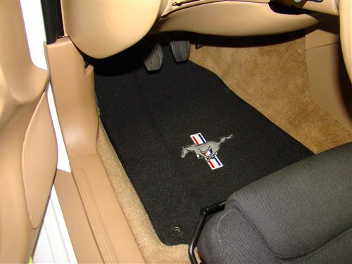 ACC Mustang Floor Mats with Pony Logo Black  (94-98)