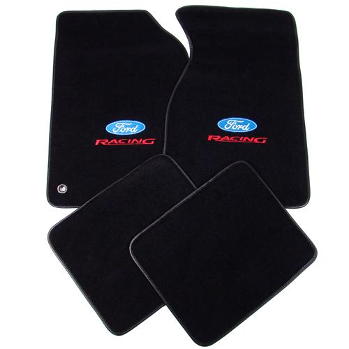 acc mustang floor mats with ford racing logo black 94 98 11486 801 207. Black Bedroom Furniture Sets. Home Design Ideas