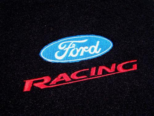 Acc Mustang Floor Mats With Ford Racing Logo Black 94 98
