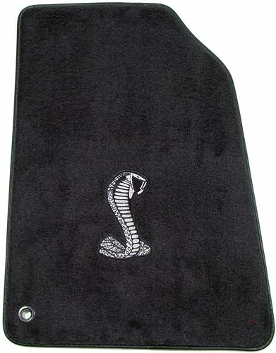ACC Mustang Floor Mats with Cobra Snake Logo Dark Charcoal (99-04) FM93PN-7701-135