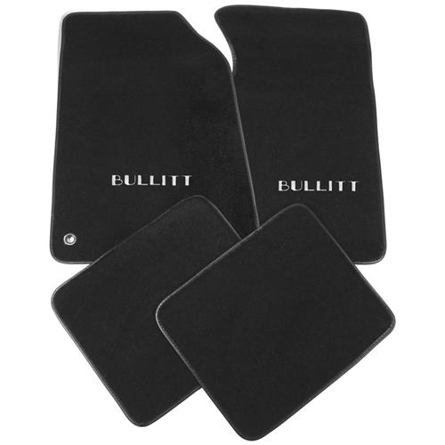 Mustang ACC Floor Mats with Bullitt Logo Dark Charcoal (99-04)