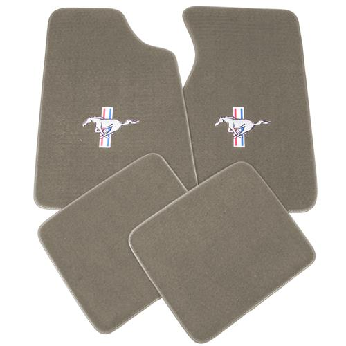 ACC Mustang Floor Mats with Pony Logo Medium Graphite  (96-98) 11486-9199-110