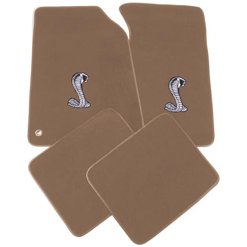 ACC Mustang Floor Mats with Cobra Snake Logo Medium Parchment (99-04) 11486-9006-135