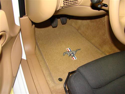 ACC Mustang Floor Mats with Pony Logo Saddle Tan (94-98) FM93PN-8384-110