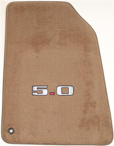 Mustang ACC Floor Mats with 5.0 Logo Saddle Tan (94-98)