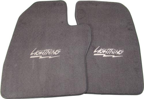 ACC F-150 SVT Lightning Floor Mats with Lightning Logo Dark Gray  (1993) 9036-807-293-1002