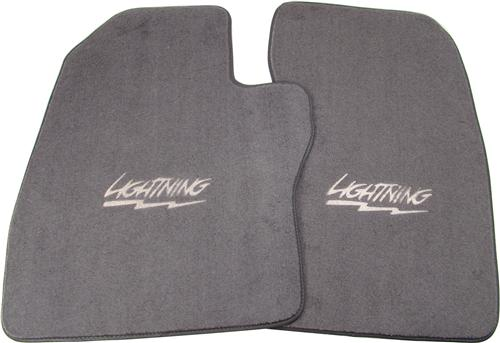 ACC F-150 SVT Lightning Floor Mats with Lightning Logo Opal Gray (94-95) FM276F-9196-293-1002