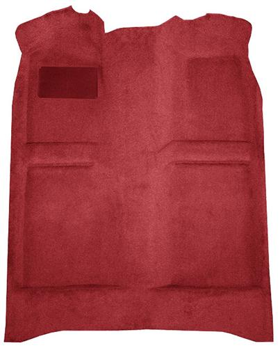 Mustang Floor Carpet w/ Mass Back Medium Red/Scarlet Red (82-92) Coupe  Hatchback