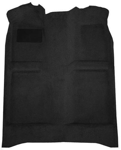 Mustang Floor Carpet w/ Mass Back Black (83-93) Convertible