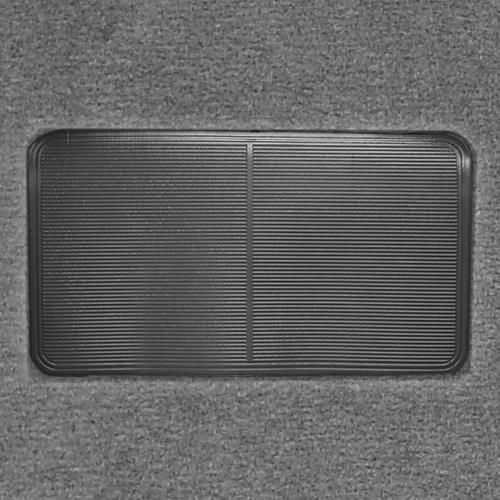 Mustang Floor Carpet w/ Mass Back Dark Gray/Smoke Gray (84-89) Convertible 3297-807 MASS BACK