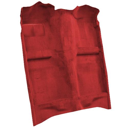 Mustang Floor Carpet w/ Mass Back Medium Red/Scarlet Red (83-92) Convertible 3297-815 MASS BACK