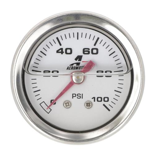 "Aeromotive Mechanical Fuel Pressure Gauge - Liquid Filled 1.5"" 15633"