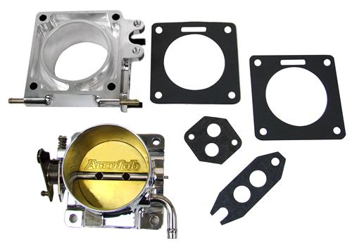 Accufab Mustang 75mm Throttle Body w/ EGR Spacer Polished  (86-93) 5.0L F75K