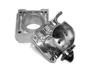 Accufab Mustang 75mm Polished Throttle Body w/ Solid EGR Spacer (86-93)