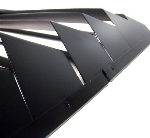 94-04 MUSTANG BLACK POWDERCOATED ALUMINUM REAR WINDOW LOUVERS