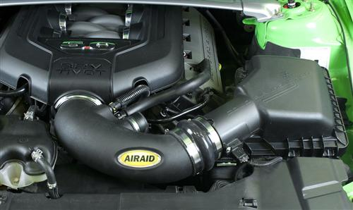 2011-14 Mustang 5.0 Airaid Modular Intake Tube. For use with stock airbox. Carb approved.