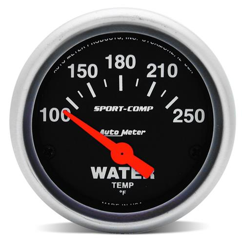 Auto Meter Sport Comp Coolant Temperature Gauge - 2 1/16""