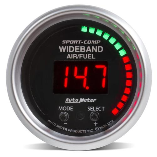 Auto Meter Sport Comp Wideband Air/Fuel Ratio Gauge - 2 1/16""