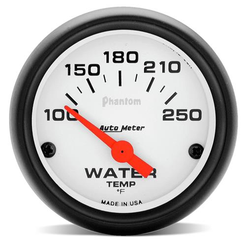 "Autometer  Phantom Coolant Temp Gauge - 2 1/16""  5737"