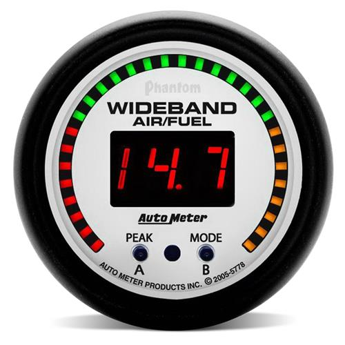 "Autometer  Phantom Wideband Air/Fuel Ratio Gauge - 2 1/16""  5778"