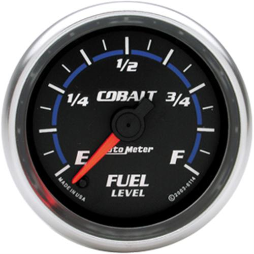Autometer Cobalt Fuel Level Gauge 2 1/16. Adjustable Ohm To Fit All Applications.  Http://Www.Autometer.Com/Cat_Gaugedetail.Aspx?Gid=2576&Sid=4