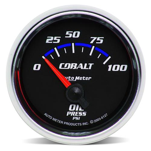 "Autometer Cobalt Oil Pressure Gauge, Electric 2 1/16"" 6127"