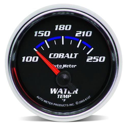 "Auto Meter Cobalt Water Temperature Gauge 2 1/16"" 6137"