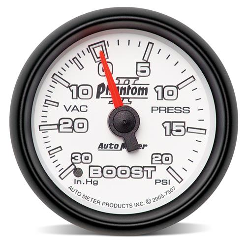 "Auto Meter Phantom II Boost Gauge 2 1/16"" 7507"