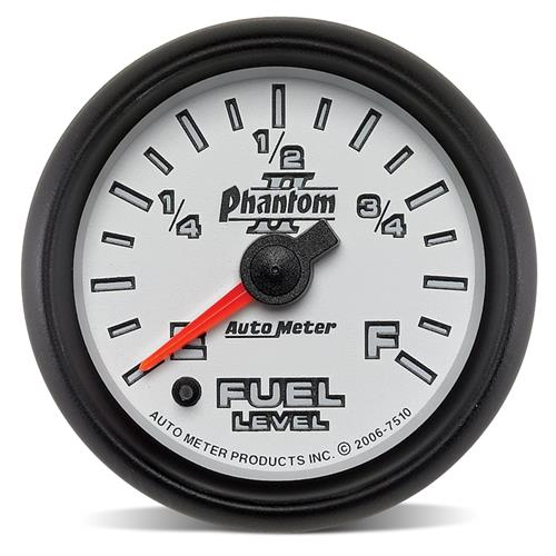 "Auto Meter Phantom II Fuel Level Gauge 2 1/16"" 7510"