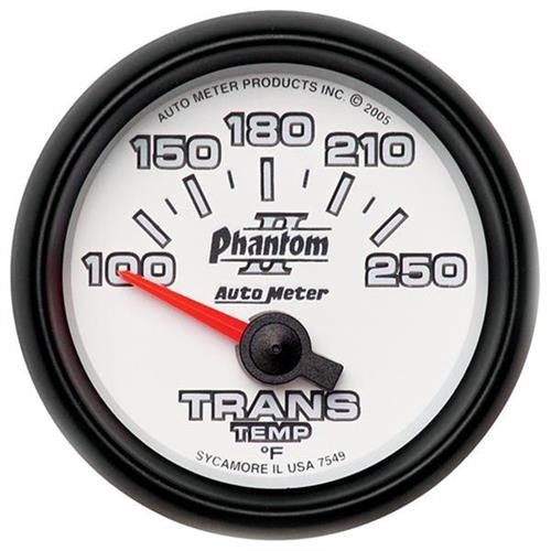 "Autometer Phantom II Transmission Temp Gauge - 2-1/16"" 7549"