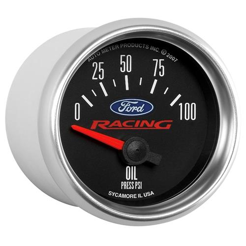 "Auto Meter Ford Racing Oil Pressure Gauge 2-1/16"" 880076"