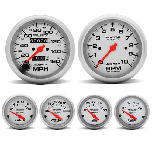 1987-97 Mustang Autometer Pro-Comp Ultra-Lite Gauge Kit by Autometer